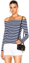 L'Agence Cynthia Top in Blue,Stripes,White.