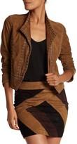 Derek Lam 10 Crosby Grommet Trim Leather Suede Jacket