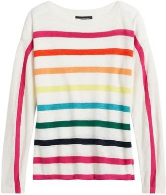 Banana Republic Pride 2020 Rainbow Boat-Neck Sweater