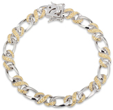 """Zales Enhanced Yellow Diamond Accent Infinity Braid Bracelet in Sterling Silver and 18K Gold Plate - 7.25"""""""
