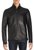 Puma Long Sleeve Mockneck Leather Jacket