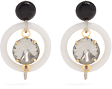 Marni Crystal-embellished hoop drop earrings