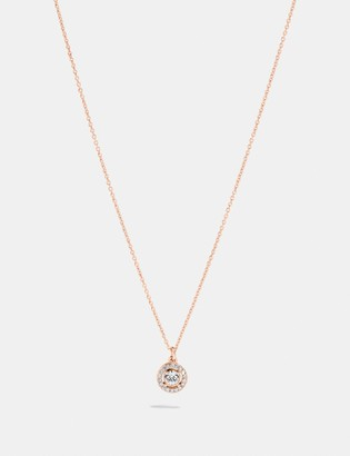 Coach Pave Ring Stud Necklace
