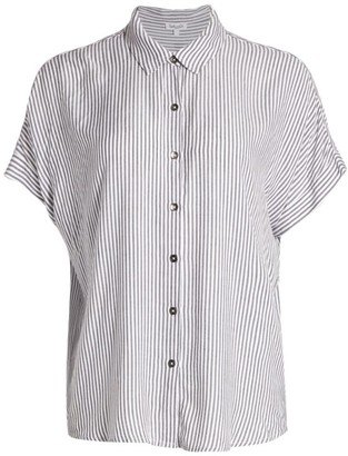 Splendid Lily Pinstripe Button-Up T-Shirt