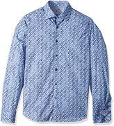 Stone Rose Men's Long Sleeve Triangle Fx Printed Shirt