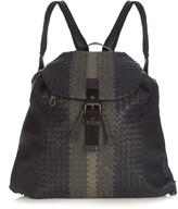 Bottega Veneta Tri-colour intrecciato leather backpack