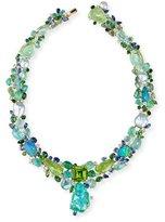 Margot McKinney Jewelry Peridot Paradise Collier Necklace with Diamonds & Sapphires