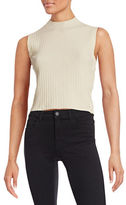 Mo & Co Ribbed Side Button Trim Tank