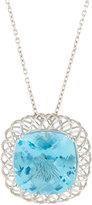 Roberto Coin Ipanema 18k White Gold Blue Topaz Pendant Necklace