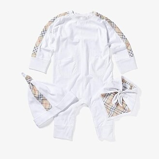 BURBERRY KIDS Colby New Set (Infant) (White) Kid's Jumpsuit & Rompers One Piece