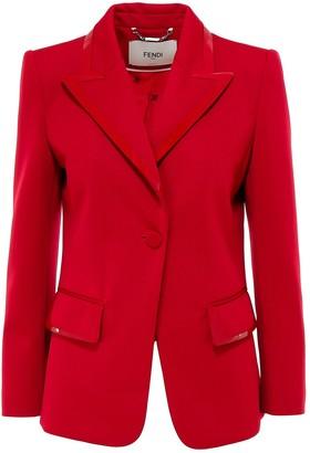 Fendi Patent Trim Tailored Blazer