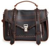Proenza Schouler 'Medium Ps1' Whipstitched Calfskin Leather Satchel - Black