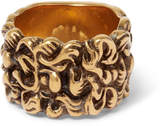 Gucci Burnished Gold-Tone Ring