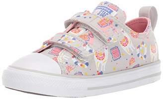 Converse Girls' Chuck Taylor All Star Llama Print Velcro Low Top Sneaker