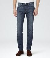 Reiss Reiss Handel - Slim Washed Jeans In Blue