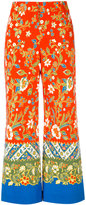 Tory Burch floral print palazzo pants - women - Cotton/Spandex/Elastane - 2