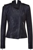 Theyskens Theory Marine Silk-Lined Leather Jacket