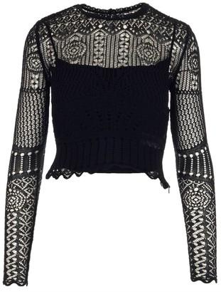 Alexander McQueen Crochet Detailed Knitted Top