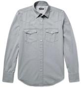 Tom Ford Slim-fit Washed Cotton-twill Western Shirt