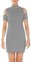 GUESS Cold Shoulder Stripe Dress