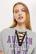 Lace Down Sports Choker T-Shirt by Tee & Cake