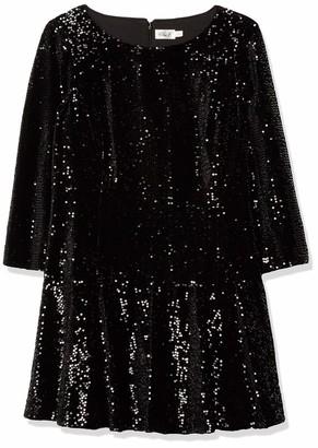 Eliza J Women's Plus Size Long Sleeve Velvet and Sequin Dress