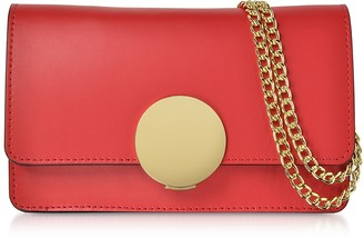Le Parmentier New Ondina Nano Leather and Suede Crossbody Clutch