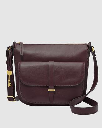 Fossil Ryder Purple Shoulder Bag