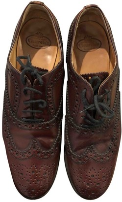 Church's Burgundy Leather Lace ups