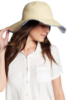 David & Young Floral Underbrim Floppy Hat