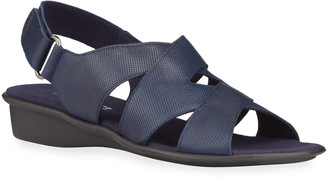 Sesto Meucci Easton Leather Comfort Wedge Sandals