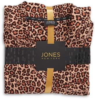 Jones New York 2-Piece Leopard-Print Pyjama Set