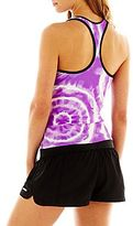JCPenney Zero Xposur® Tie-Dyed Racerback Tankini Swim Top or Solid Shorts