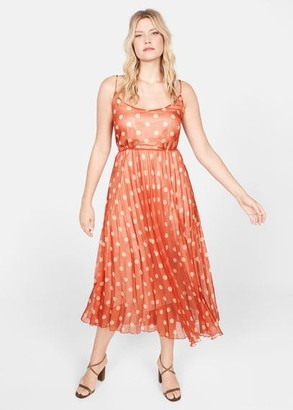 MANGO Dots pleated dress