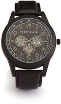 Perry Ellis Pebbled Strap Watch