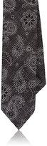 Luciano Barbera Men's Paisley Woven Wool-Silk Necktie-DARK GREY