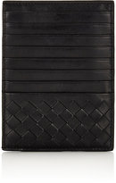 Bottega Veneta Men's Intrecciato Large Card Case-BLACK