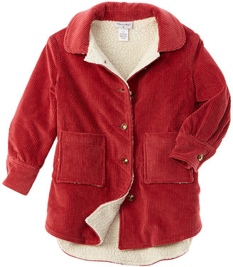 Oscar de la Renta Corduroy Wool-Blend Coat