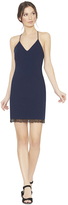 Alice + Olivia Leigh Low Cross Back Fitted Dress