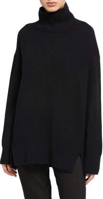 Vince Oversized Cashmere Double Slit Turtleneck Sweater