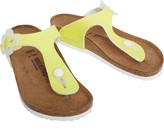 Birkenstock Girls Gizeh Birko-Flor Narrow Fit Sandals Candy Yellow