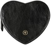 Maxwell Scott Bags Maxwell Scott Leather Heart Handbag Organiser - Mirabellal Black