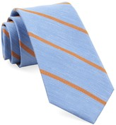 The Tie Bar Light Blue Spring Break Stripe Tie