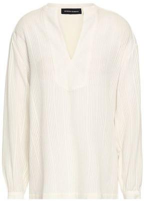 Vanessa Seward Ribbed Cotton-blend Blouse