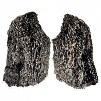Amanda Wakeley Grey Fur Jacket for Women