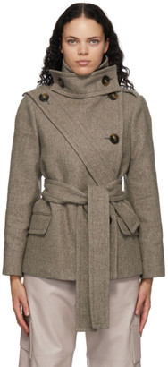 Stella McCartney Taupe Wool Amelia Coat