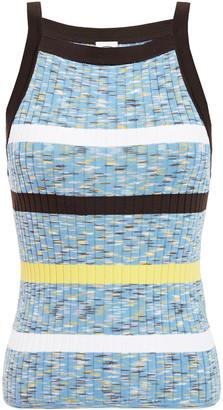 M Missoni Striped Ribbed Cotton-blend Tank