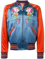 Gucci embroidered appliqué bomber jacket