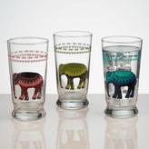 Cost Plus World Market Elephant Glass Tumblers, Set of 3