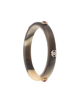 Chanel Pre Owned 2005 embellished CC bangle